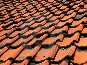 Tiled Roof Free Stock Image