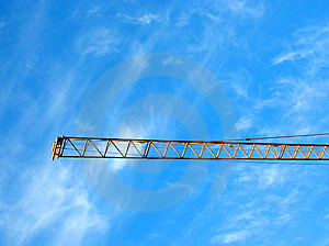 Crane's gibbet on blue sky Stock Image
