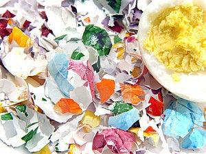 Κοχύλια αυγών Πάσχας Στοκ Φωτογραφίες