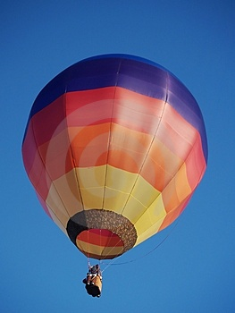 Colourful hot air balloon Stock Photography