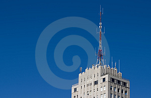 Radio Rooftop Stock Photo - Image: 806860