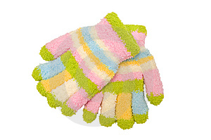 Striped Mitten Stock Photos - Image: 8000063
