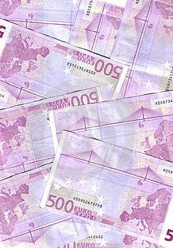 500 Euro Background Stock Image - Image: 8001641