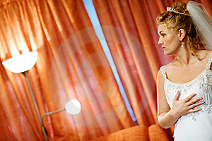 Bride Near The Lamps Stock Photos - Image: 8001683