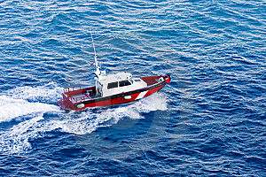 Red And White Pilot Boat Stock Images - Image: 8003504