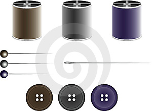 Sewing Kit Stock Photo - Image: 8003860