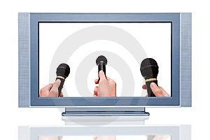 Plasma LCD HDTV Display Stock Image - Image: 8004061