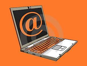 Modern Laptop Royalty Free Stock Photo - Image: 8006425