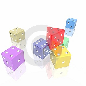 Extraordinary Red Game Cube Stock Photos - Image: 8008273