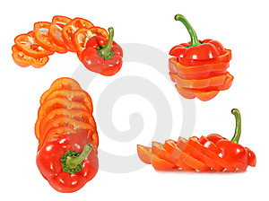 Red Bulgarian Pepper Royalty Free Stock Photos - Image: 8009278