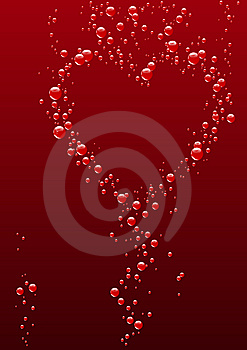 Heart From Bubbles Royalty Free Stock Photography - Image: 8009317