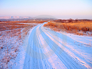 Road In The Field Stock Images - Image: 8014914