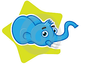 Funny Elephant  Cartoon Mascot Royalty Free Stock Photo - Image: 8015565