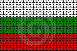 Bulgaria Heart Flag Stock Photos - Image: 8016513