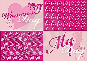 Women's Day Card Royalty Free Stock Photos - Image: 8017548