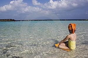 Girl On The Beach. Stock Photos - Image: 8017833