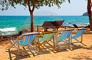 Lounge On The Beach Stock Photography - Image: 8018322