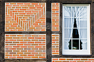 Window In Wall Of Bricks Royalty Free Stock Image - Image: 8018386