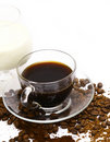 Coffee with milk. Royalty Free Stock Images