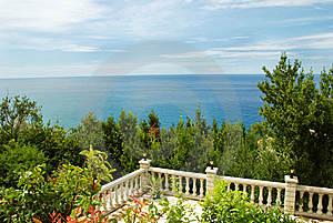 Terrace With Sea View Stock Image - Image: 8022001