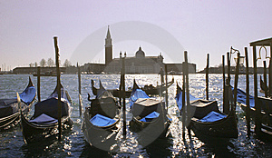 Gondolas In Venice Royalty Free Stock Images - Image: 8022009