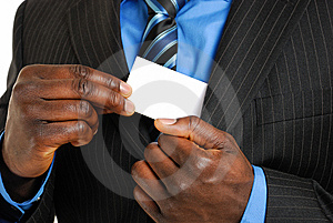 Business Man With Business Card Stock Photos - Image: 8022173