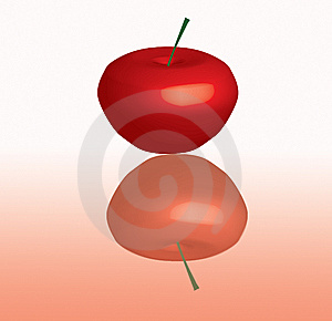 3d Apple Or Cherry Royalty Free Stock Photo - Image: 8023035