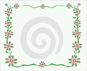 Flowery Greeting Card Illustration- Vector Royalty Free Stock Photos - Image: 8023518