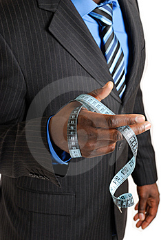 Business Man Holding Tape Measure Stock Image - Image: 8023781