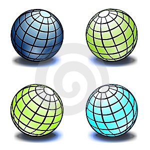 Set Of Globes Royalty Free Stock Images - Image: 8023899