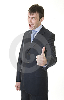 Businessman Shows OK Sign Stock Image - Image: 8023951