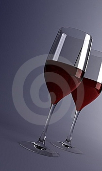 Glasses With Wine Royalty Free Stock Photo - Image: 8025385