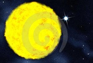 Starfield Creado Digitaces Foto de archivo - Imagen: 8025560