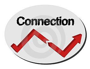 Logo Connection Stock Image - Image: 8026831