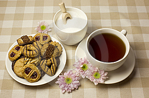 Tea And Biscuits Stock Images - Image: 8027034