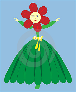 Flower Girl Vector - Illustration Stock Photos - Image: 8027293