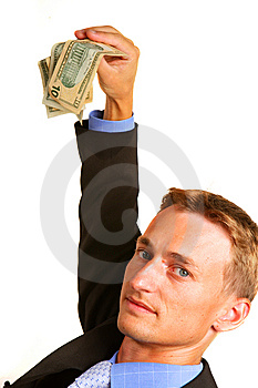 Money In The Hand Of The Businessman Royalty Free Stock Photography - Image: 8027547