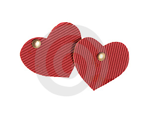 Two Hearts Royalty Free Stock Images - Image: 8028229