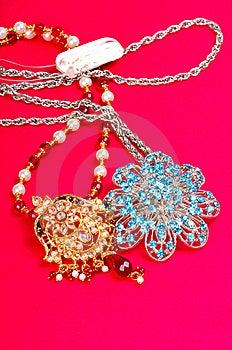 Golden And Diamond Pendant Stock Photo - Image: 8028810