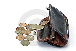 Change Coin And Purse Royalty Free Stock Images - Image: 8029299