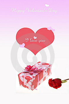 Roses With Gift Box Stock Photos - Image: 8030063
