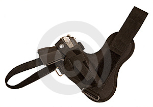 Gun In A Holster Royalty Free Stock Images - Image: 8031179