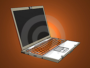 Modern Laptop Royalty Free Stock Photos - Image: 8032328