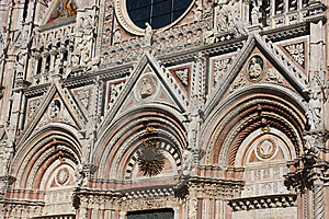 Architectural Details Of Cathedral In Siena,Italy Stock Image - Image: 8032651