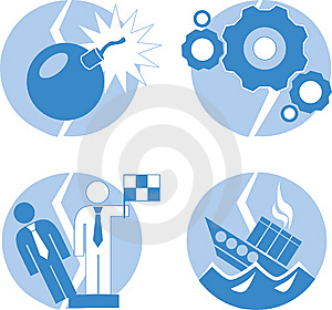 Crisis Icon Royalty Free Stock Images - Image: 8033629