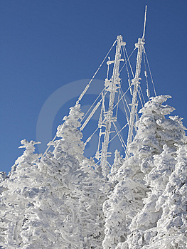 Frozen Antenna Royalty Free Stock Photo - Image: 8034015