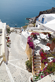 Small Street On Santorini Island Stock Photography - Image: 8034322