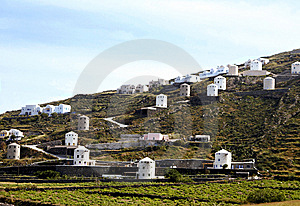 Hill With Mills Royalty Free Stock Photo - Image: 8034335
