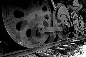 Iron Wheels Stock Image - Image: 8034391