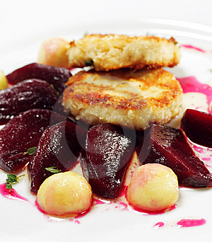 Chicken Confit With Pickled Beet Stock Photos - Image: 8034423